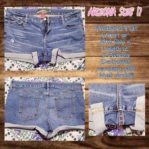 Blue Jean Shorts by Arizona size 17 Jr
